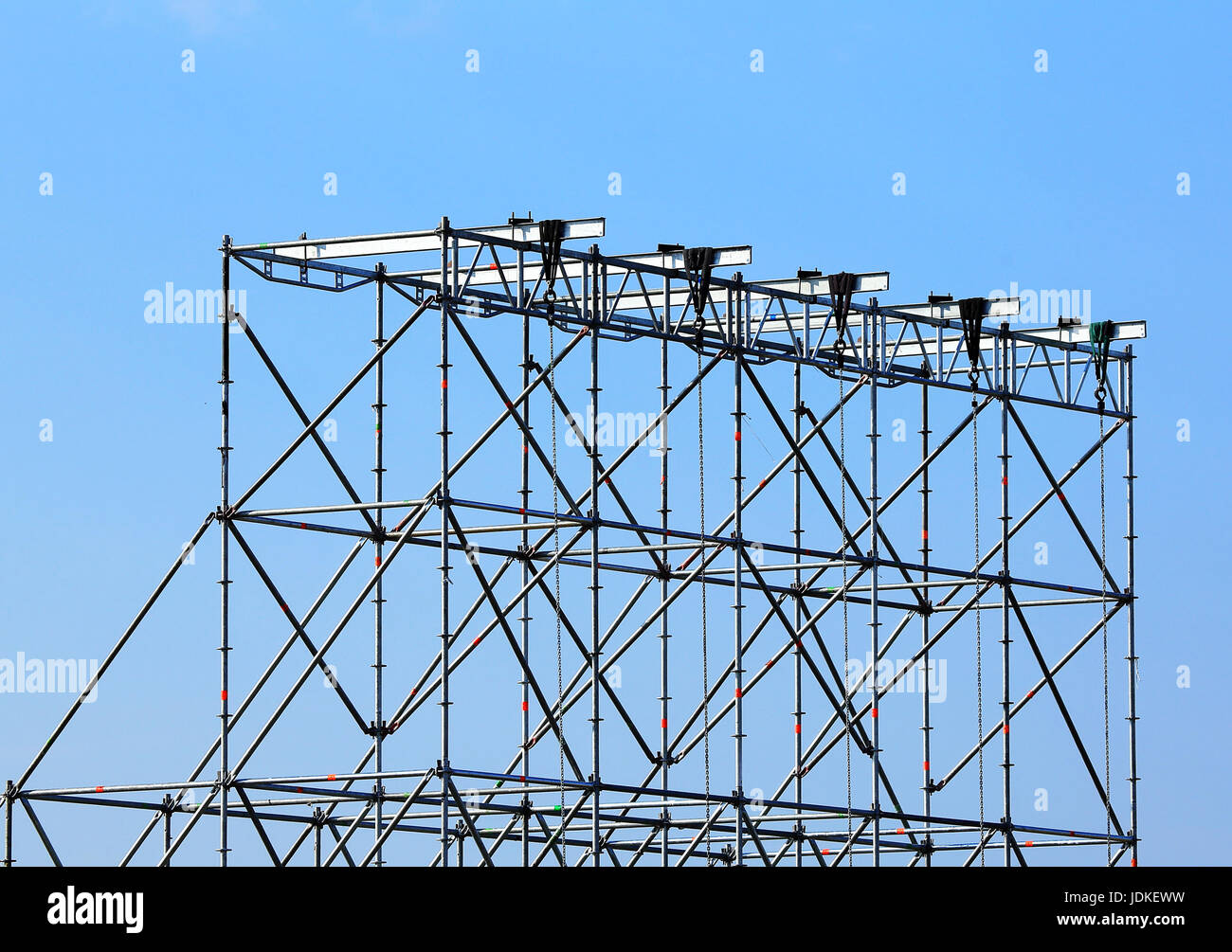 Rectangular structure made of interconnected metal beams - Stock Image