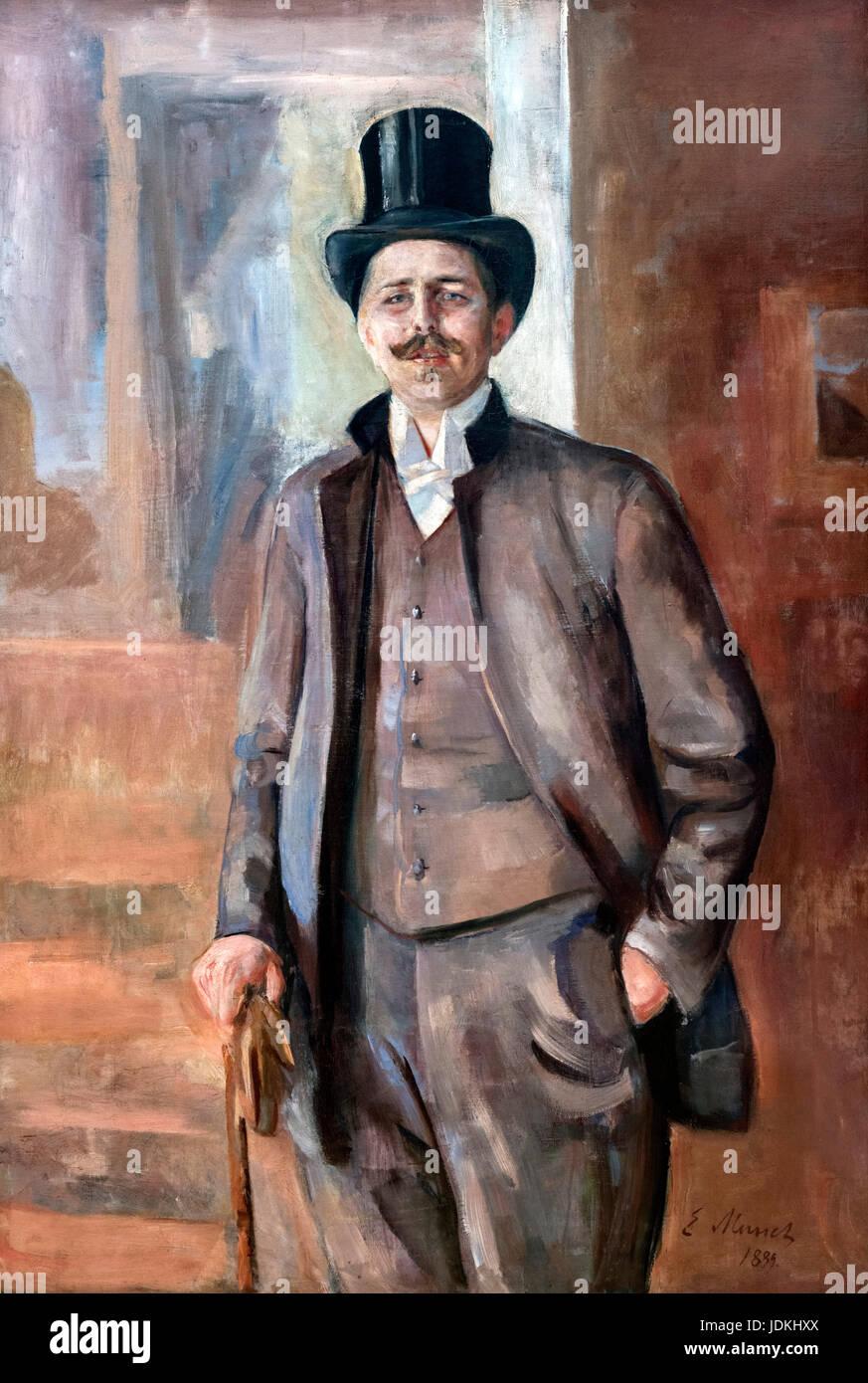 Portrait of the Artist Carl Johannes Andreas Adam Dørnberger by Edvard Munch (1863-1944), 1889 - Stock Image