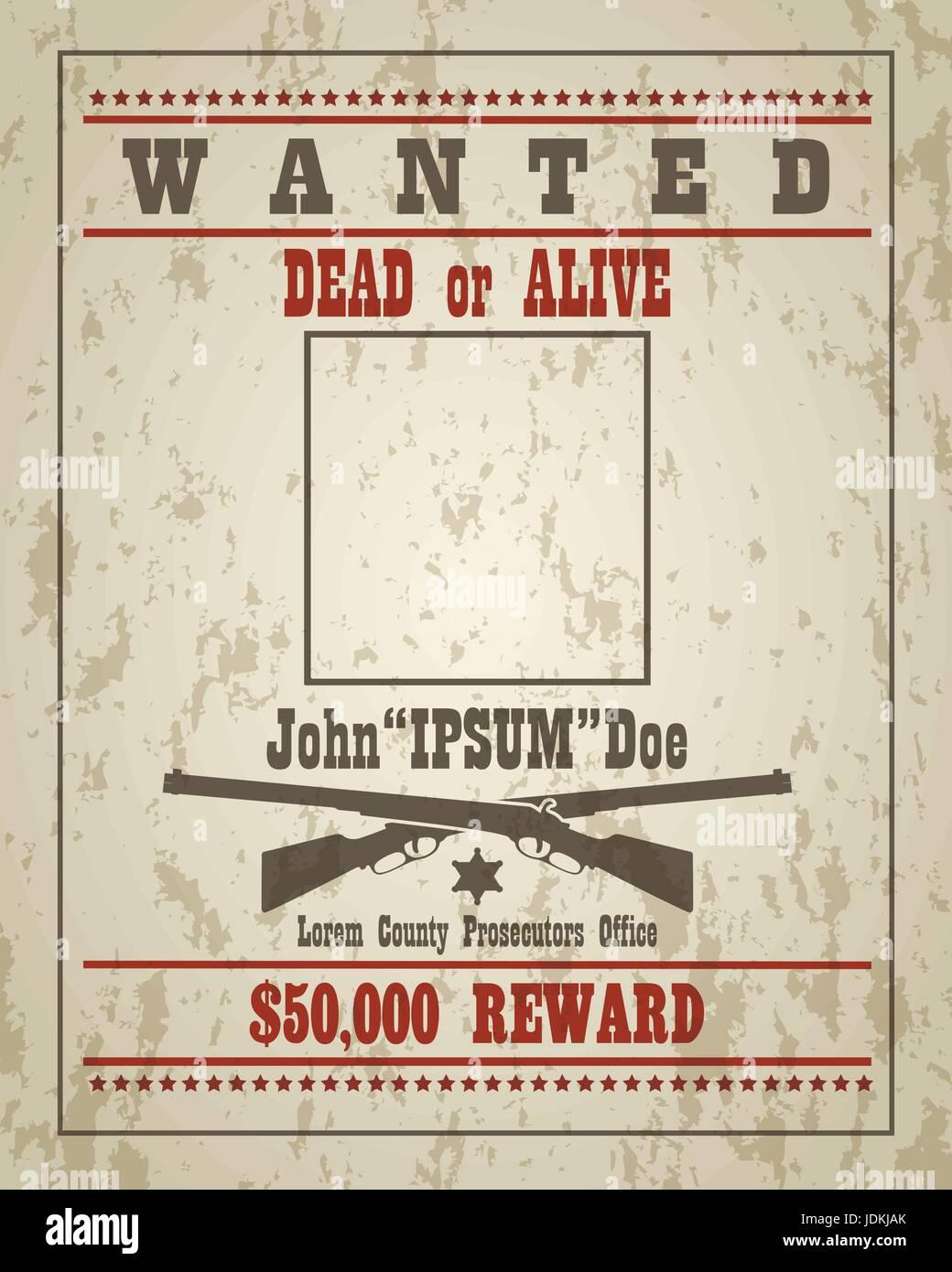 Wanted Sign Reward Stock Photos Wanted Sign Reward Stock Images