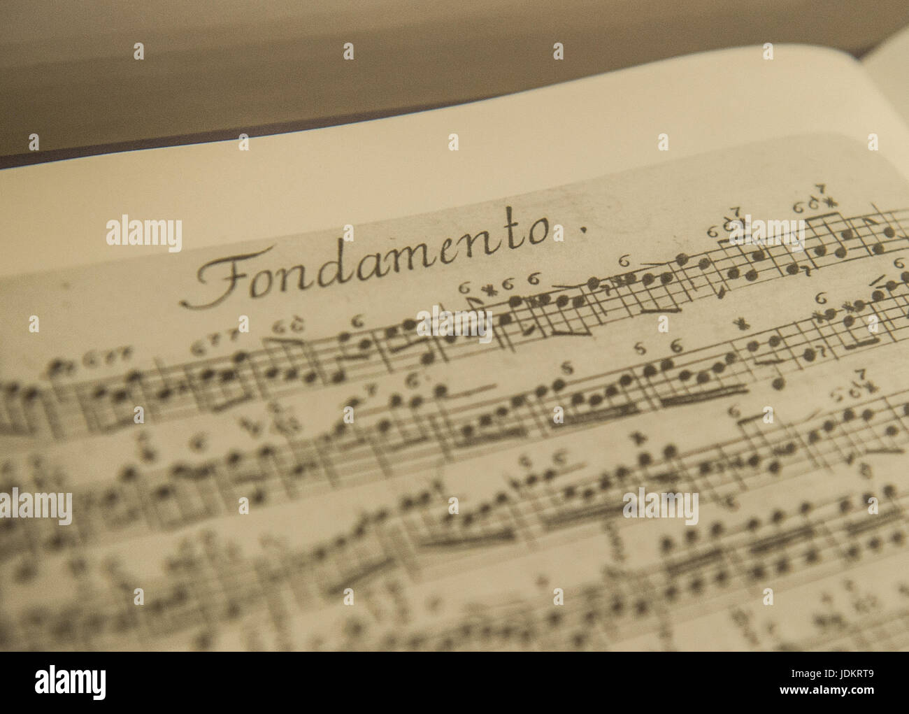 Hamburg, Germany. 13th June, 2017. A music sheet showing a work by composer Georg Philipp Telemann (1681-1767) in - Stock Image