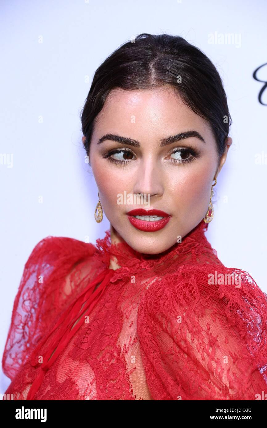 New York, NY, USA. 20th June, 2017. Olivia Culpo at arrivals for amfAR generationCURE Solstice Party, Mr. Purple - Stock Image