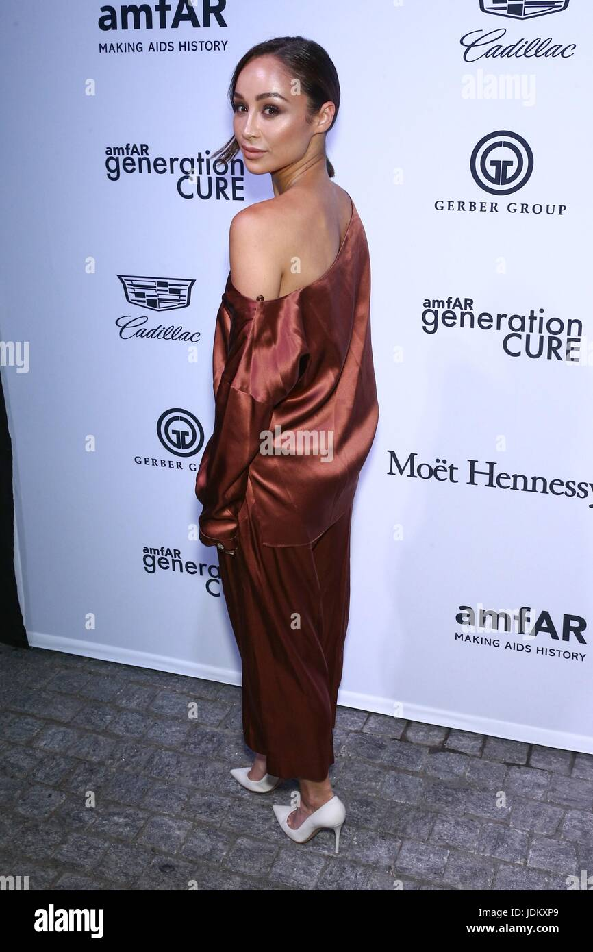 New York, NY, USA. 20th June, 2017. Cara Santana at arrivals for amfAR generationCURE Solstice Party, Mr. Purple - Stock Image