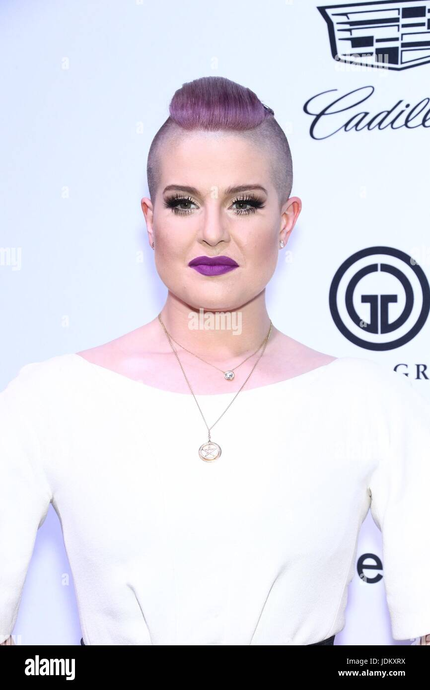 New York, NY, USA. 20th June, 2017. Kelly Osbourne at arrivals for amfAR generationCURE Solstice Party, Mr. Purple - Stock Image