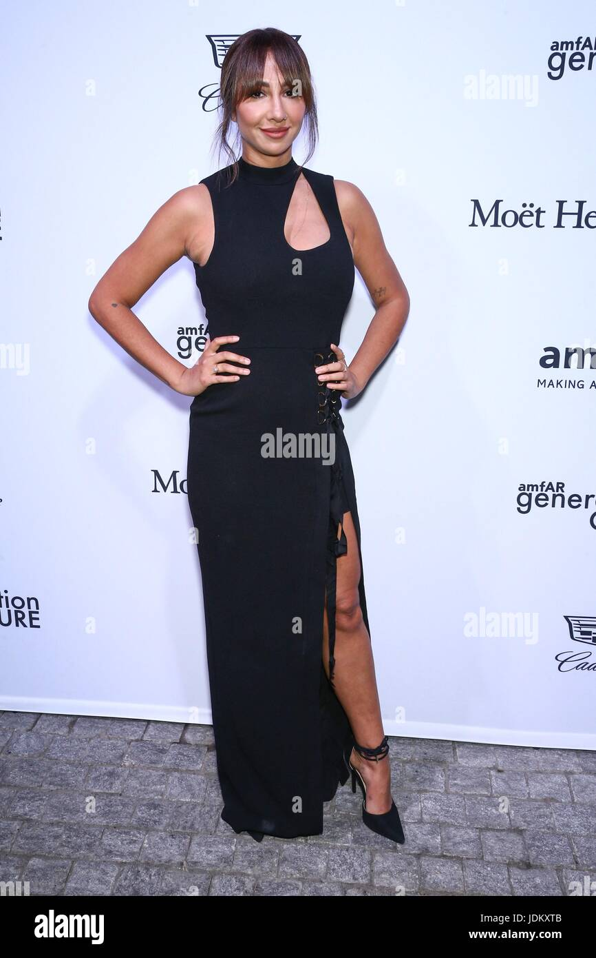 New York, NY, USA. 20th June, 2017. Jackie Cruz at arrivals for amfAR generationCURE Solstice Party, Mr. Purple - Stock Image