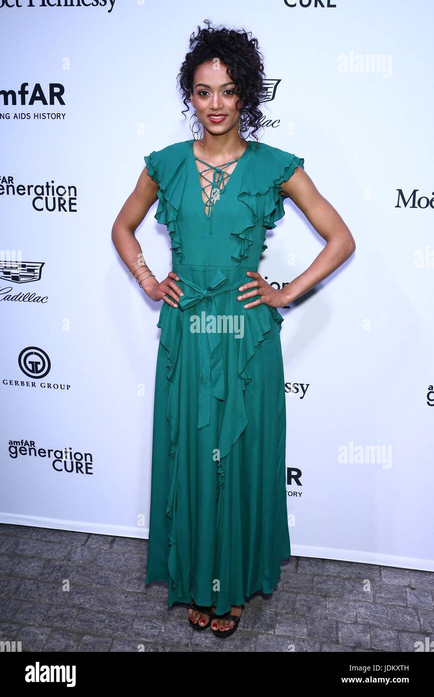 New York, NY, USA. 20th June, 2017. Kára McCullough at arrivals for amfAR generationCURE Solstice Party, Mr. - Stock Image