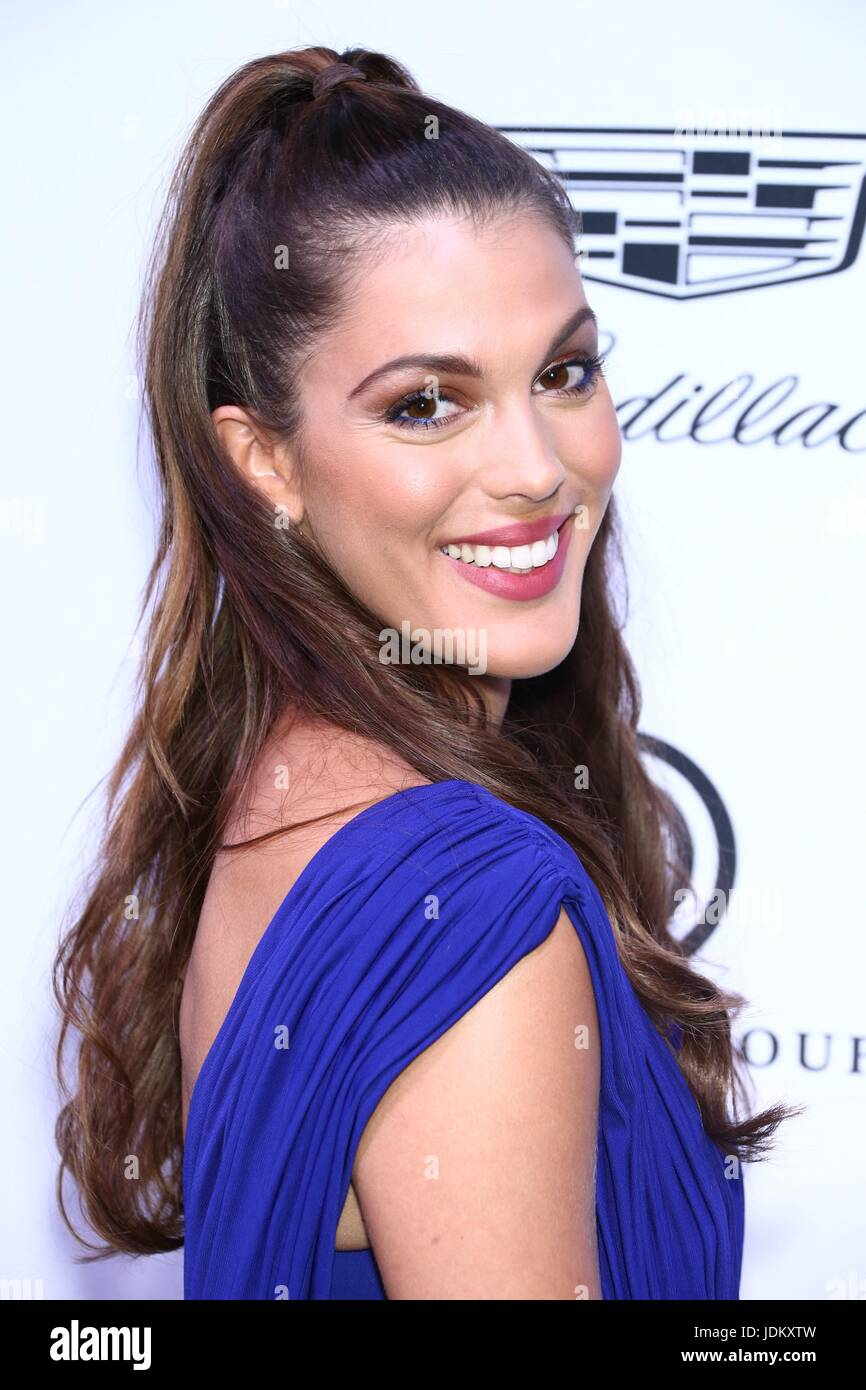 New York, NY, USA. 20th June, 2017. Iris Mittenaere at arrivals for amfAR generationCURE Solstice Party, Mr. Purple - Stock Image