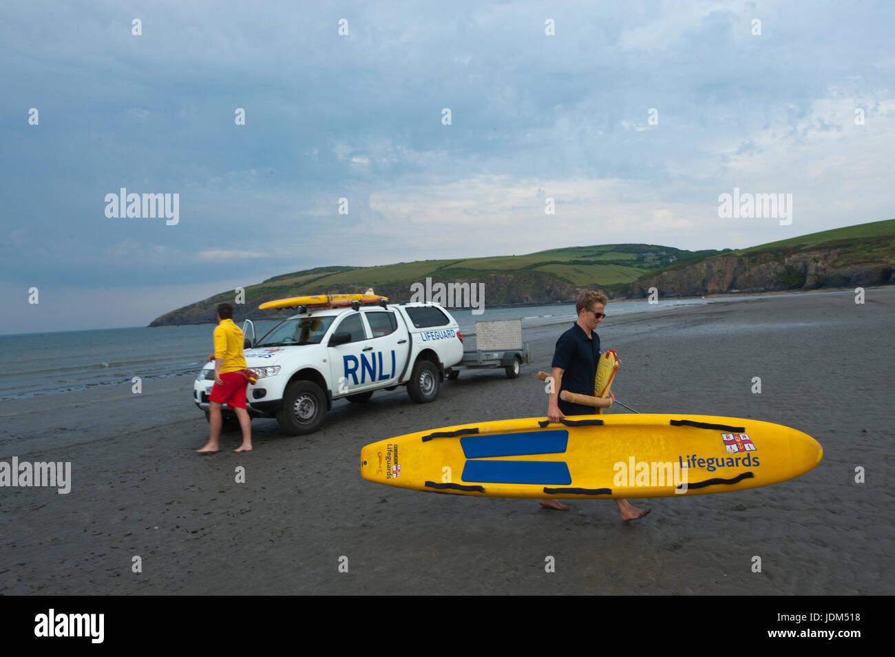 3edf4b25653e British Beach Lifeguards Stock Photos   British Beach Lifeguards ...