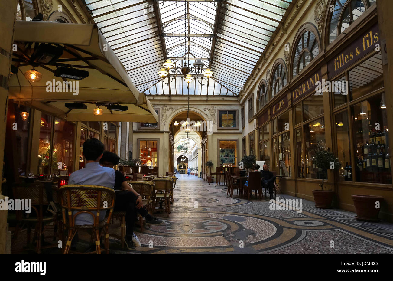 the galerie vivienne is a historical passage in paris france stock