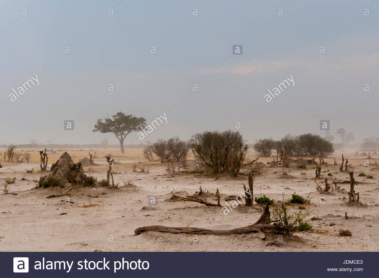 A sand storm approaching. - Stock Image