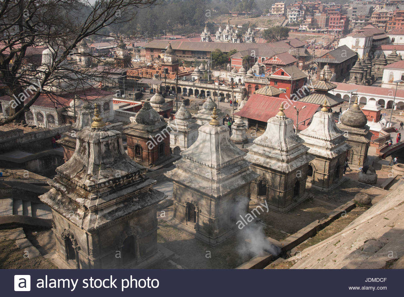 The Pashupatinath Temple in Kathmandu. - Stock Image