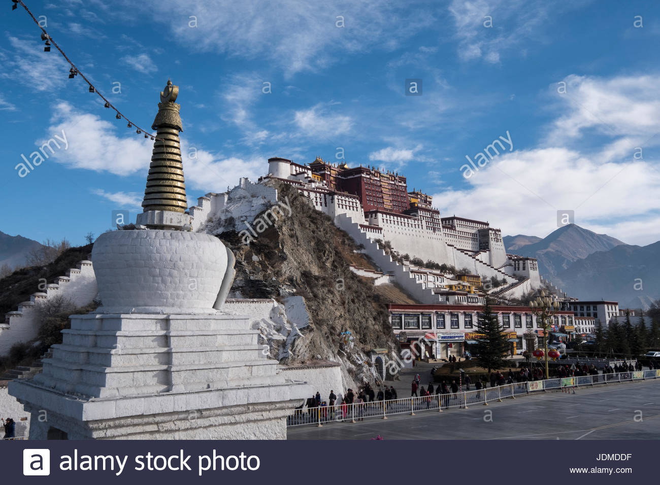 The Potala Palace in Lhasa. - Stock Image