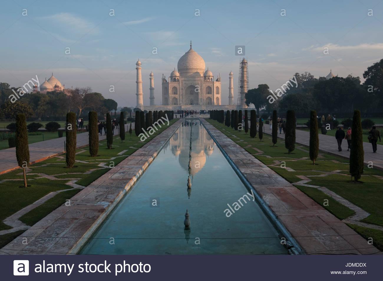 The Taj Mahal in Agra. Stock Photo