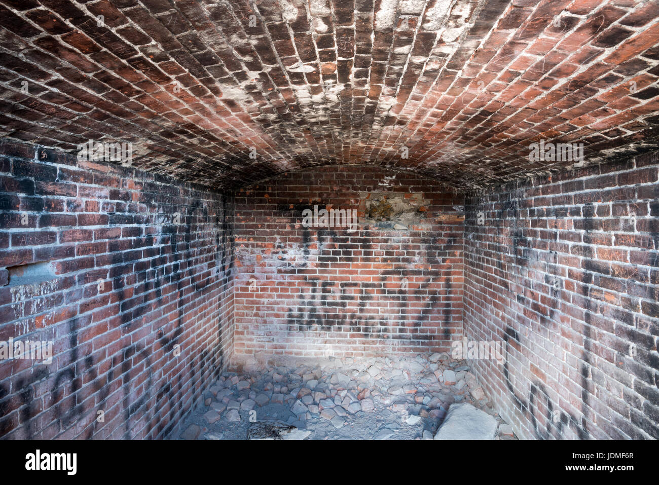 Explosives store room at an old stamp mill in East Belmont, Nevada. - Stock Image