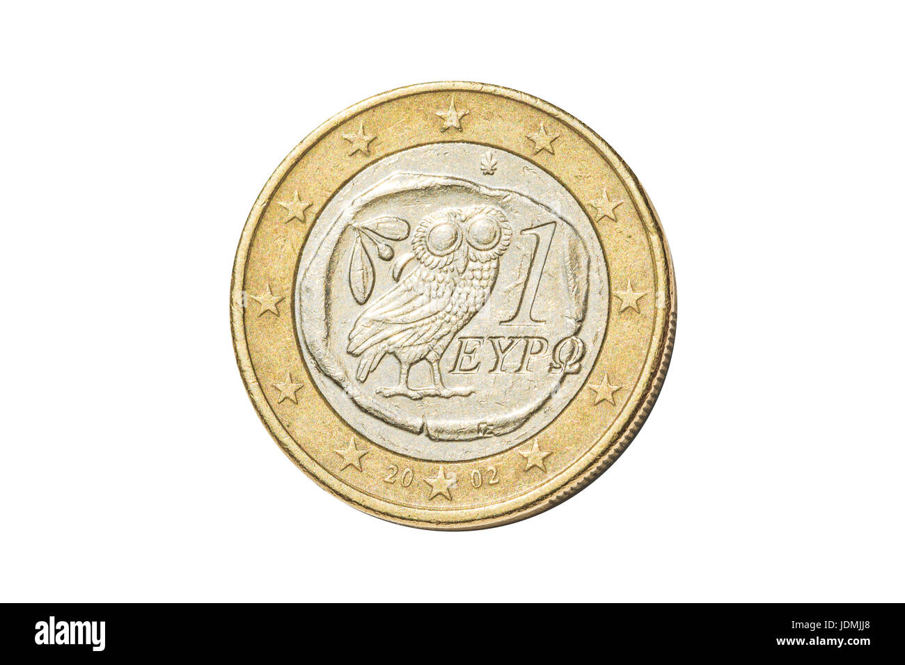 Greek one euro coin - Stock Image
