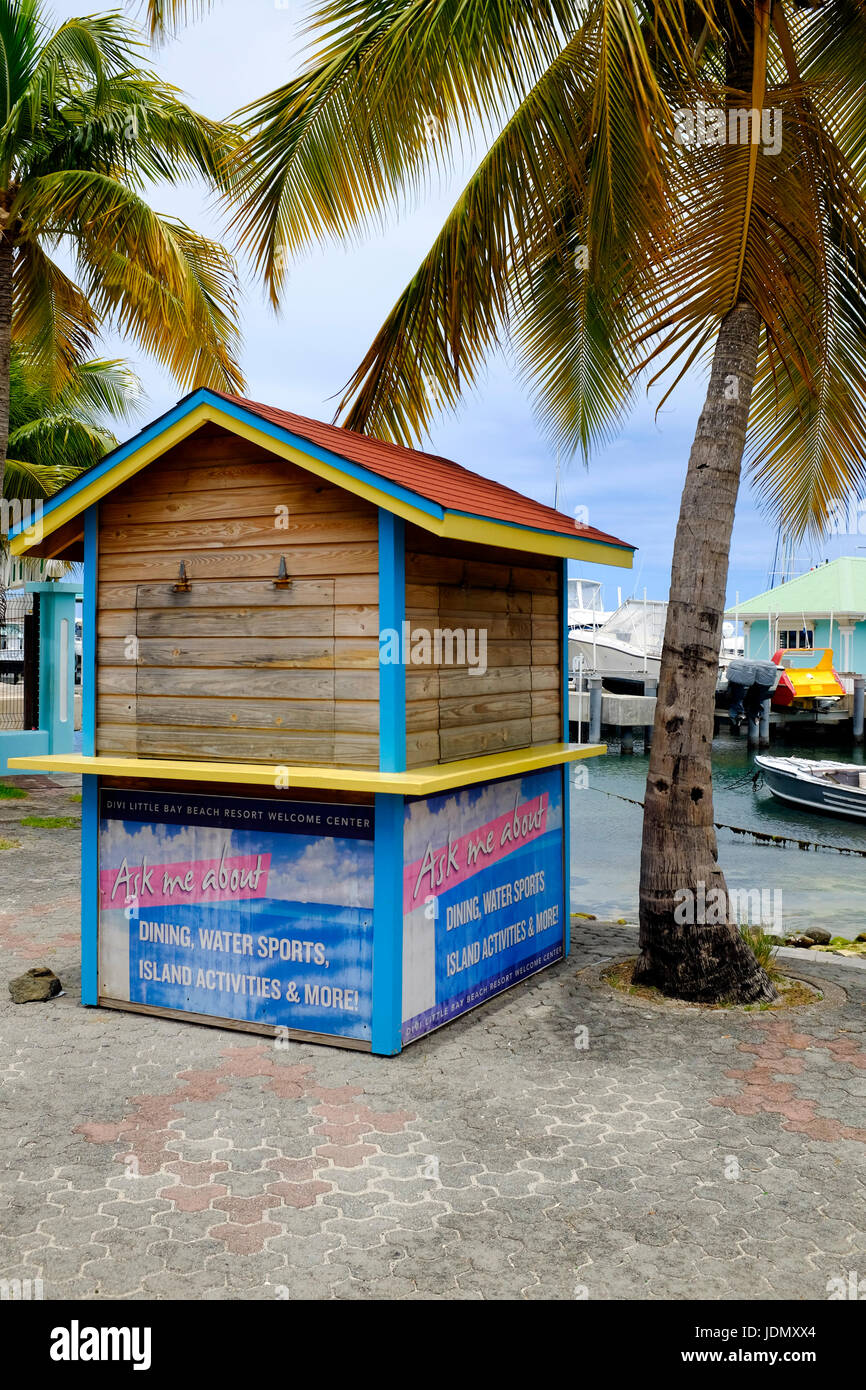 Watersports Vendor Beach Hut, St. Maarten, Caribbean - Stock Image