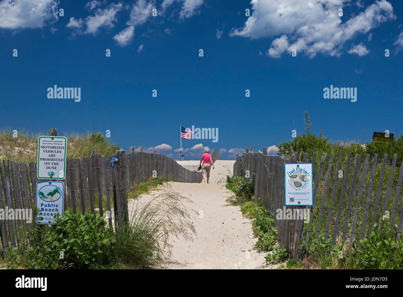 Broadkill Beach, Delaware - Public access to an Atlantic Ocean beach in southeastern Delaware. - Stock Image