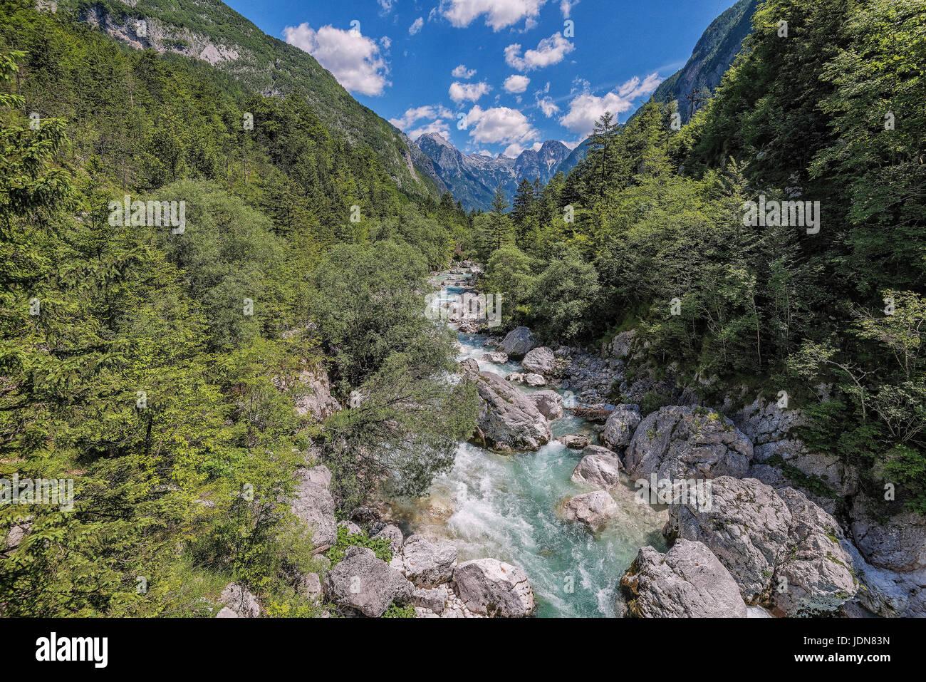 Soca, Slovenien, NP Triglav - Stock Image