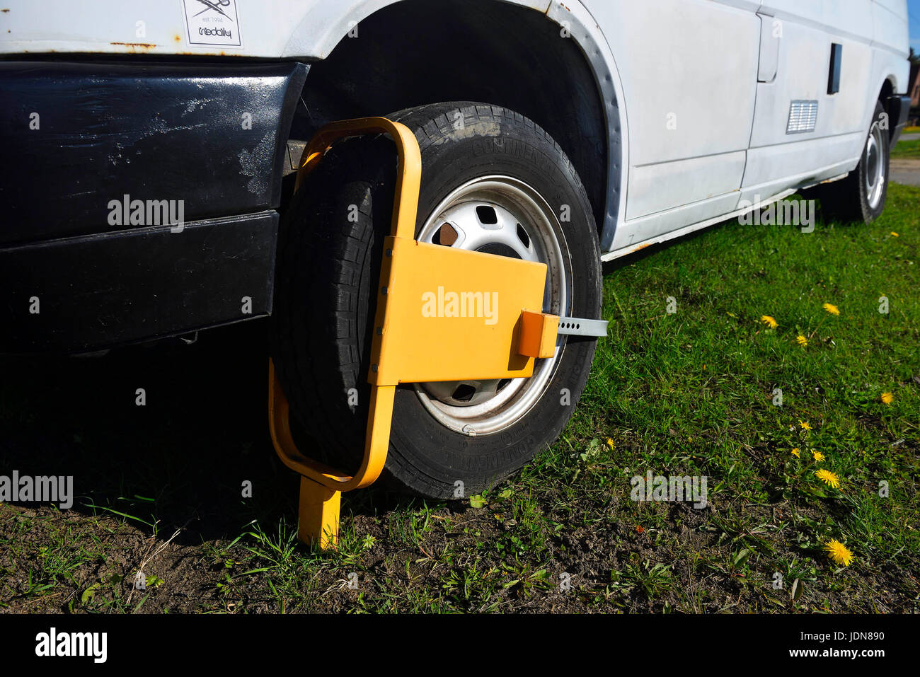 Park claw in a vehicle, Parkkralle an einem Fahrzeug - Stock Image