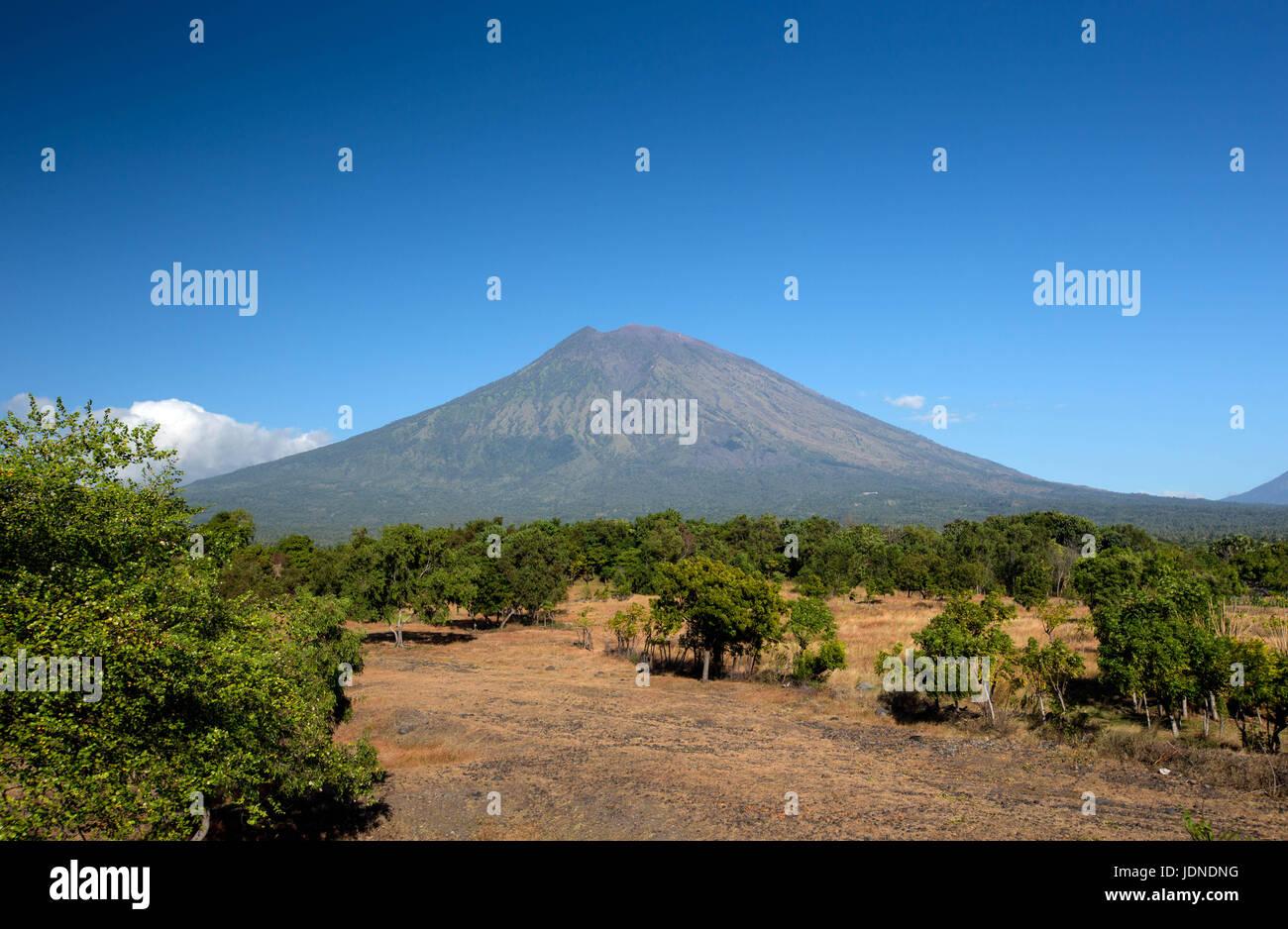 Mount Agung in Bali, Indonesia Near Ubud - Stock Image