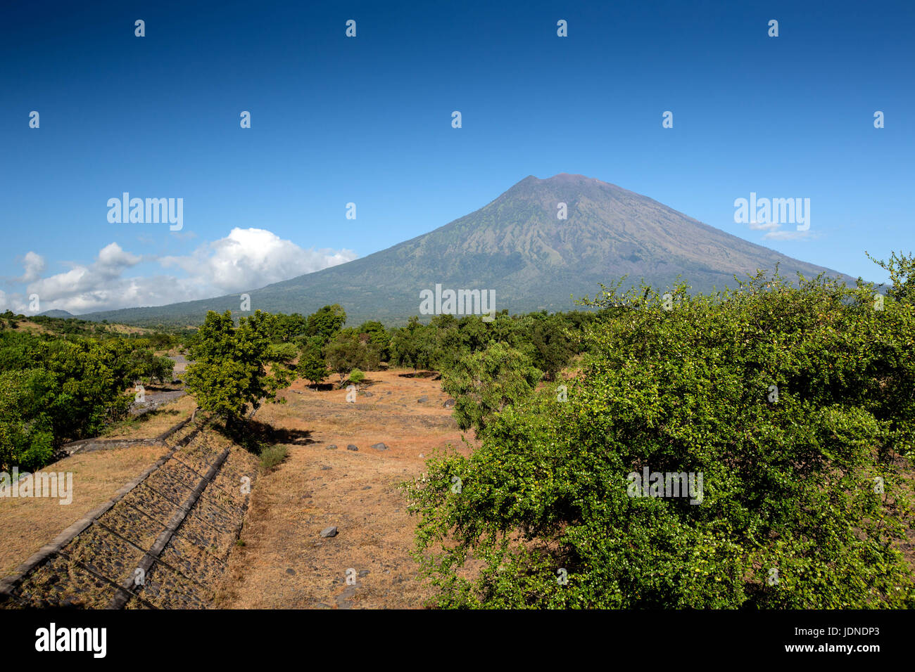 Mount Agung in Bali, Indonesia Near Ubud - Stock Image