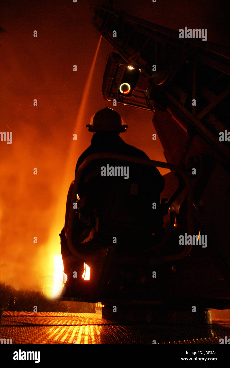High rise tower block fire - Stock Image