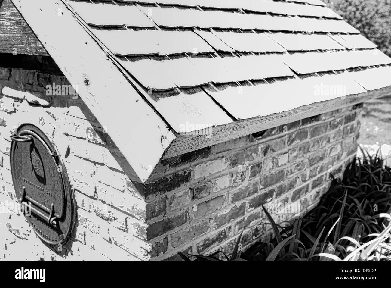 Historic outside oven - Stock Image