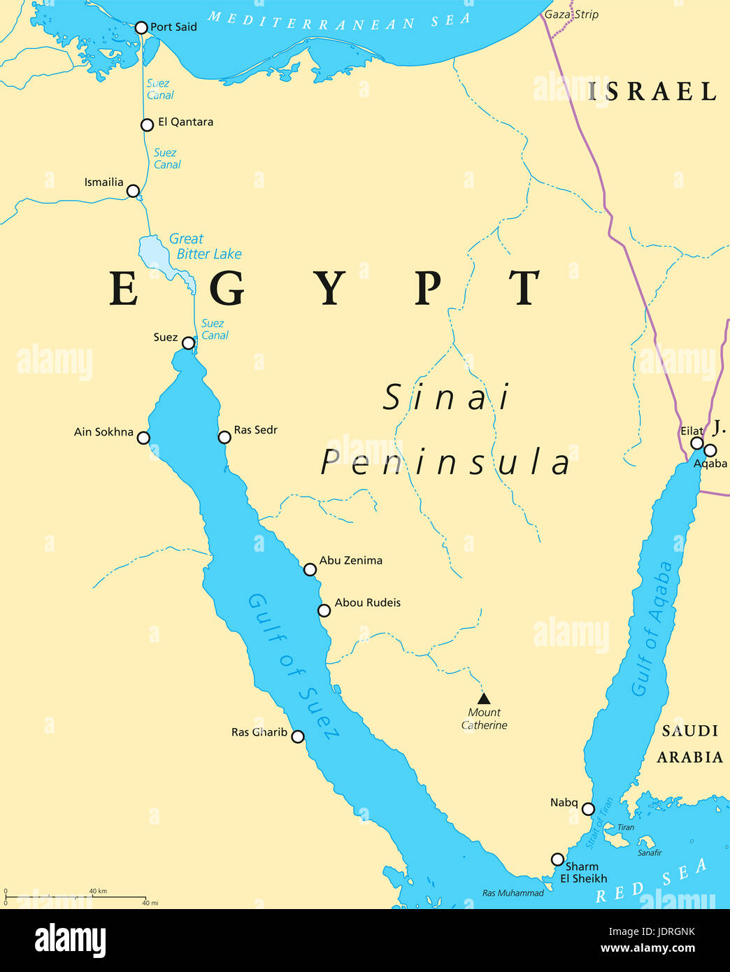 Suez Canal Map Map Of The Suez Canal Stock Photos & Map Of The Suez Canal Stock  Suez Canal Map