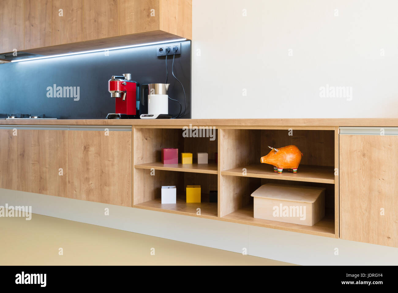 Kitchen appliances in contemporary interior Stock Photo: 146191672 ...