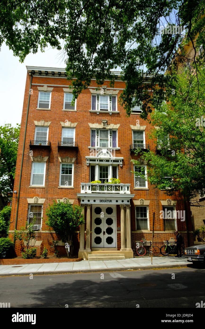 Decatur Apartments, 2131 Florida Avenue NW, Washington DC - Stock Image