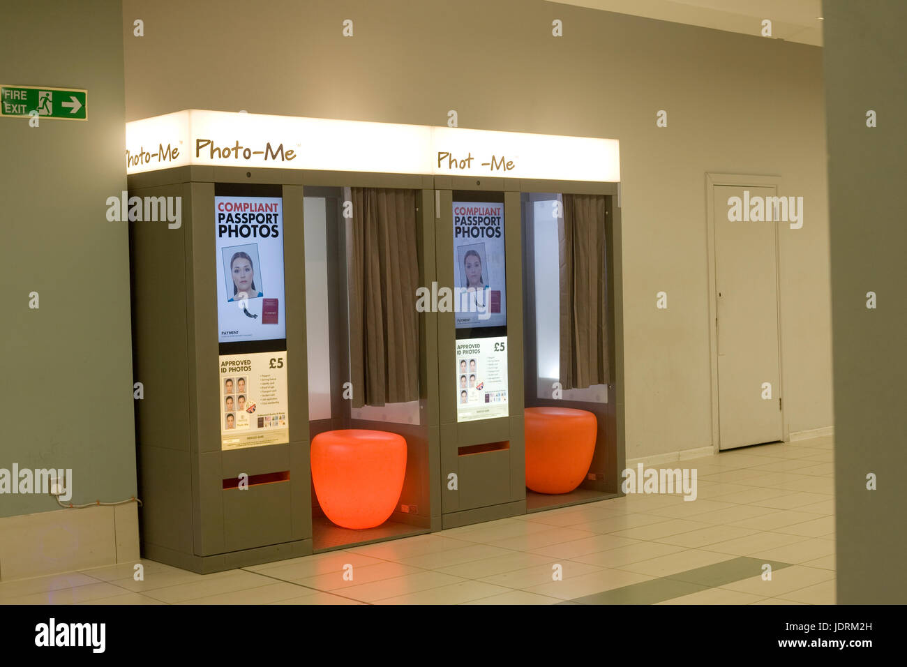 Photo me photo booths in Kennet shopping centre in Newbury - Stock Image