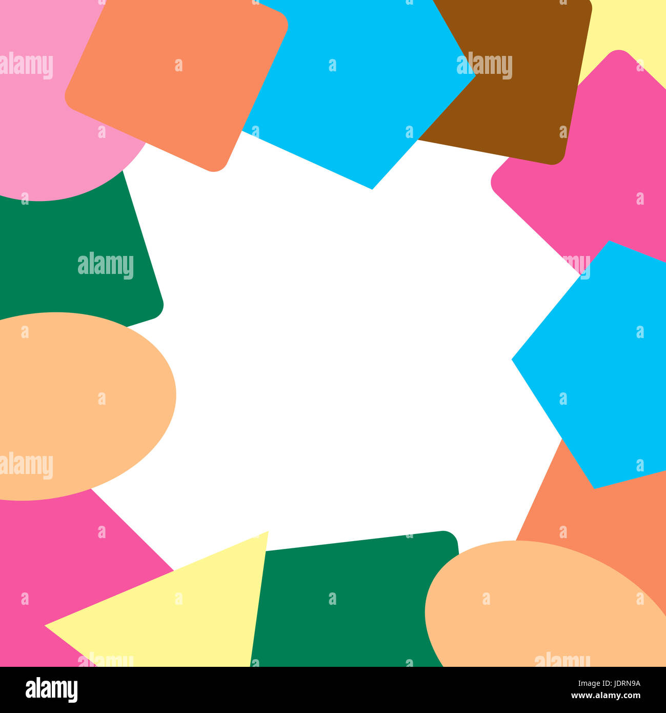 Frame design of geometric shapes Stock Photo: 146195094 - Alamy