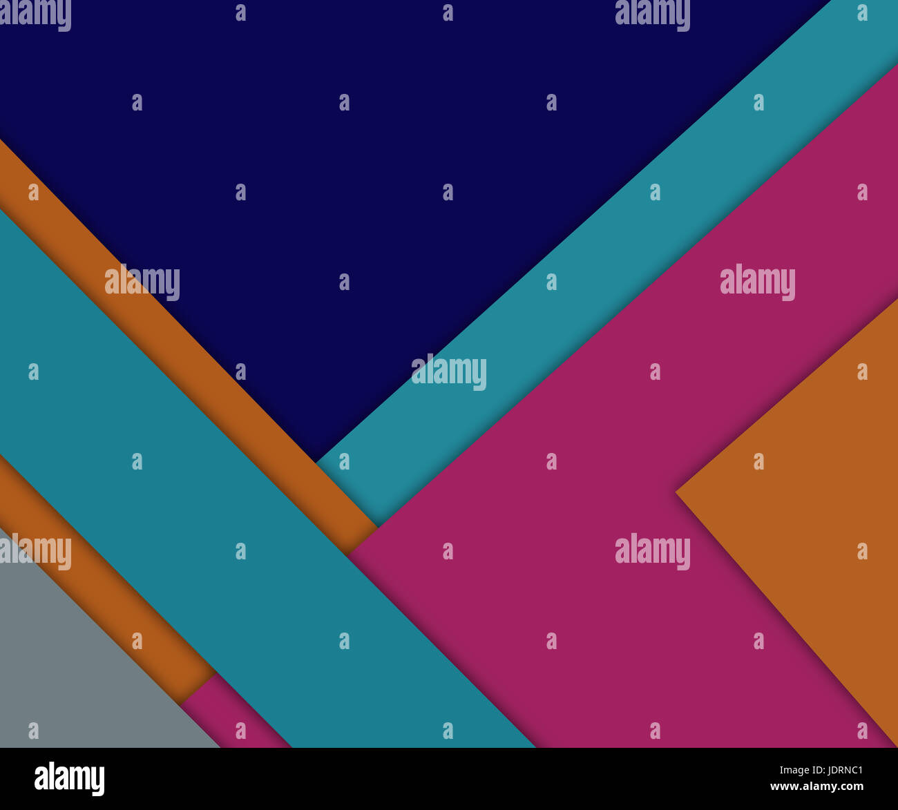 Abstract multicolor geometric overlapping shapes background. Raster illustration - Stock Image