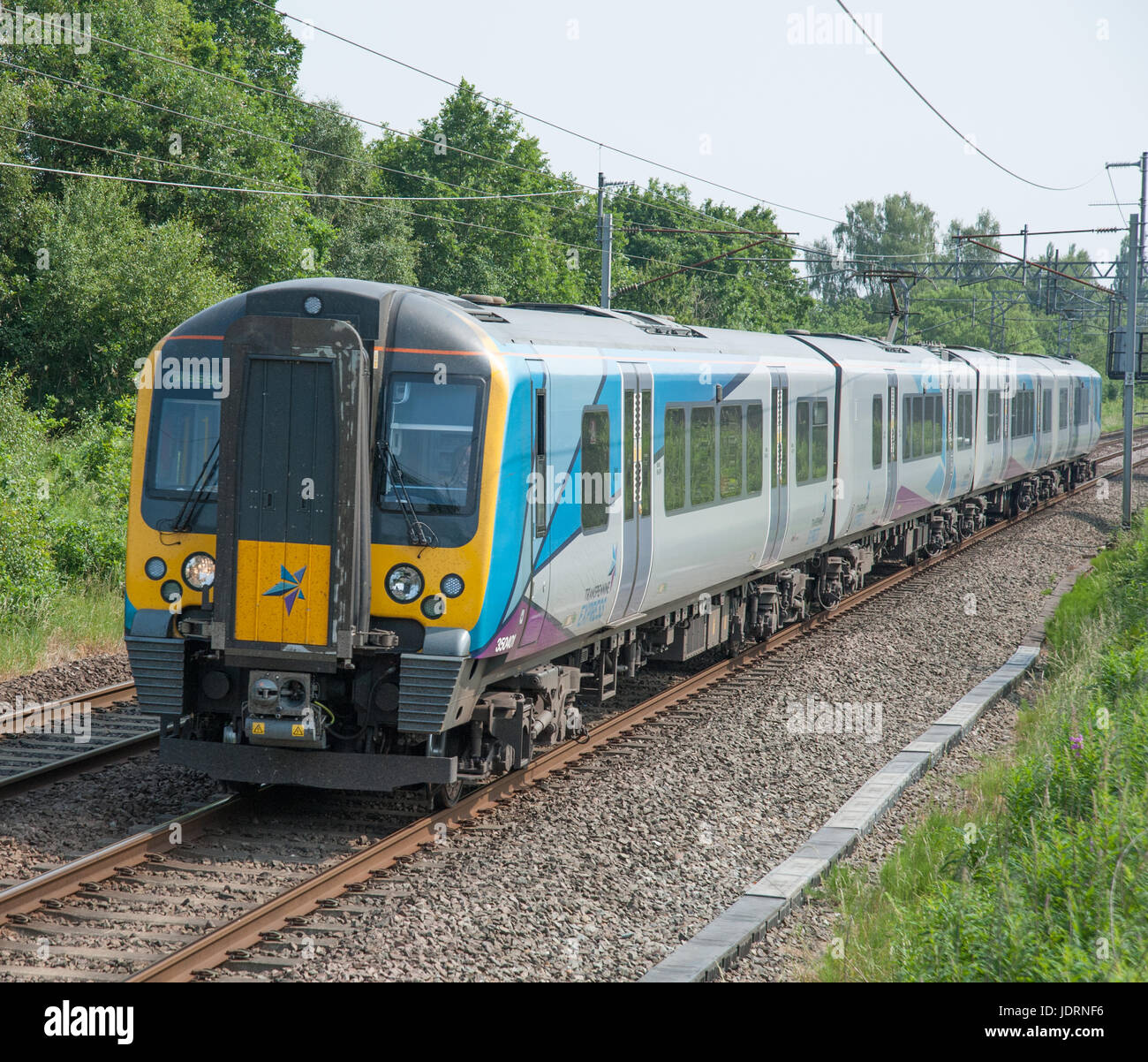 Class 35 EMU, in the new Transpennine Express livery - Stock Image