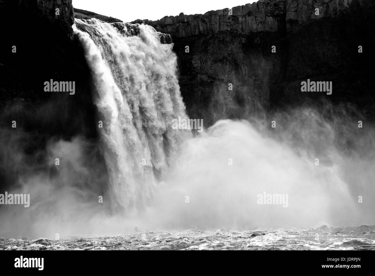 Clouds from the mighty Palouse Falls - Stock Image