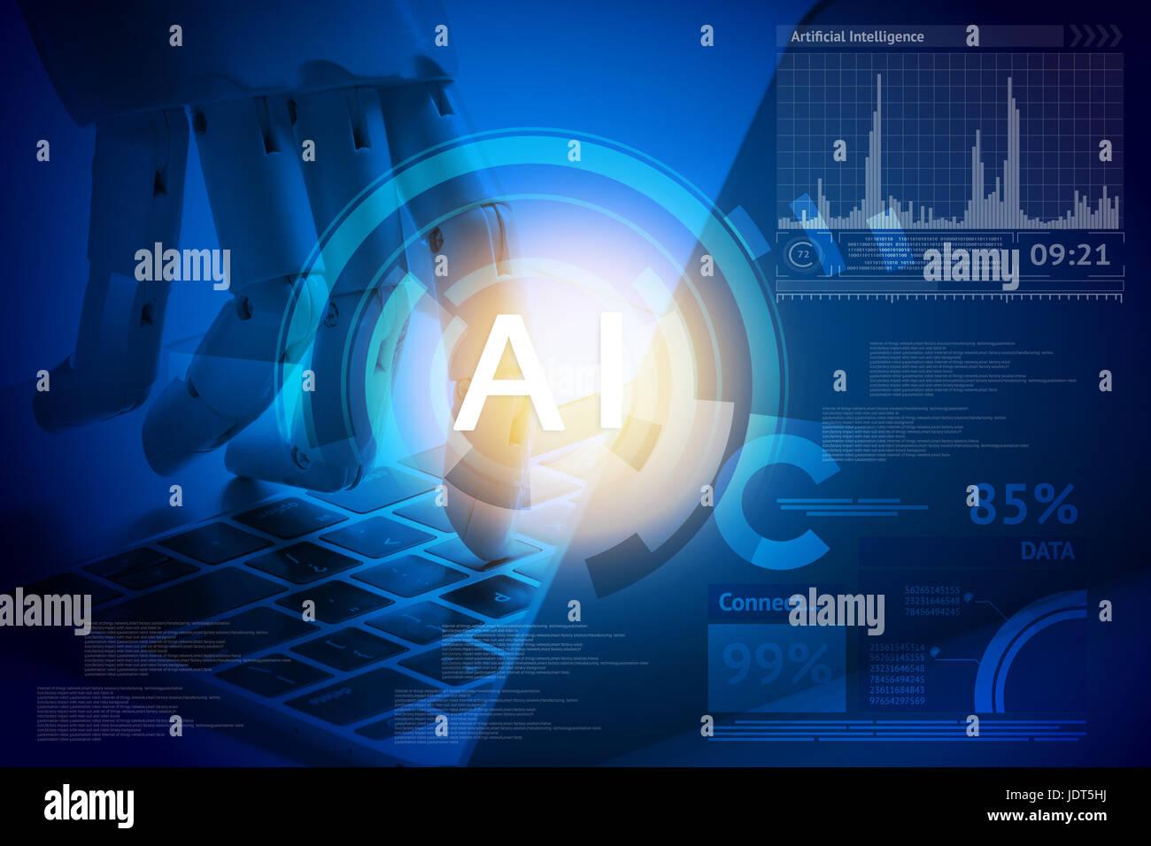 Artificial Intelligence Robo Advisor Robotic Concept Robot