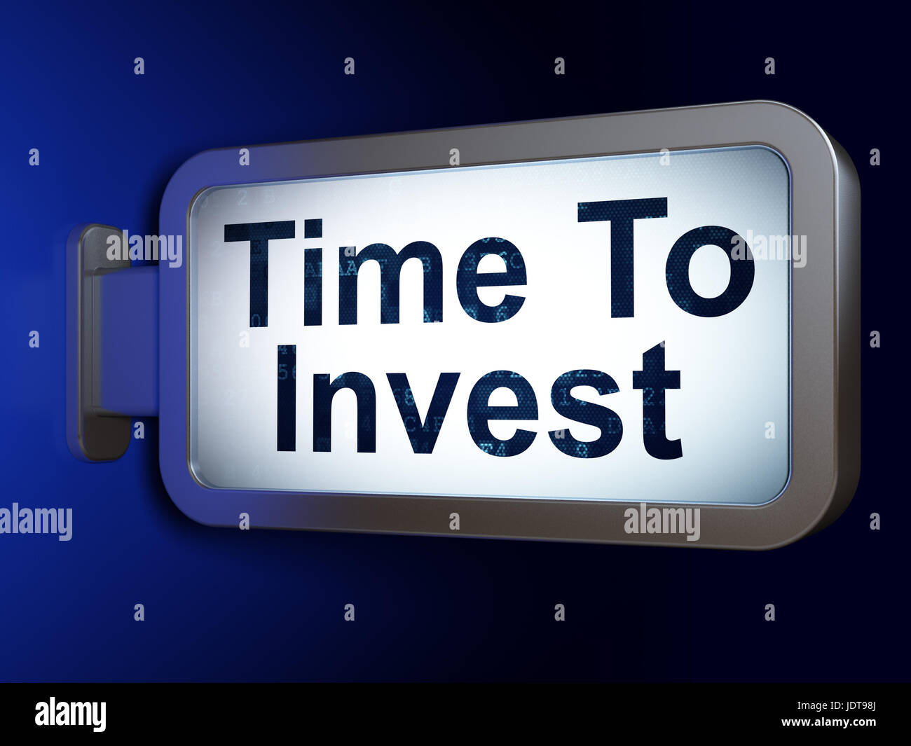 Time concept: Time To Invest on billboard background - Stock Image