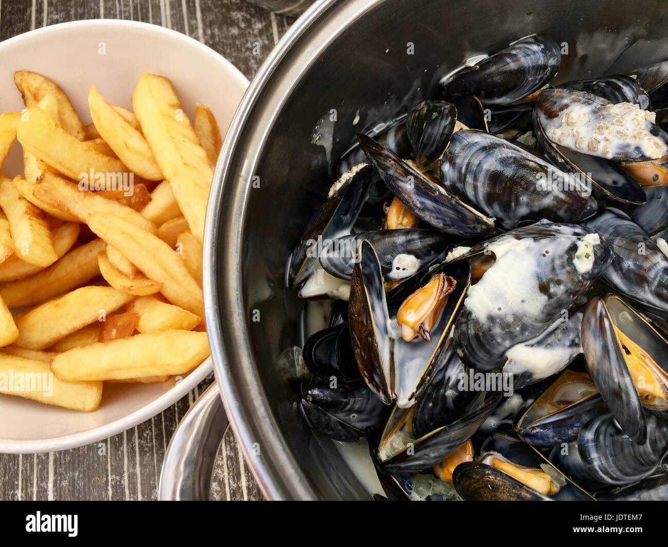 Moules Frites - Stock Image