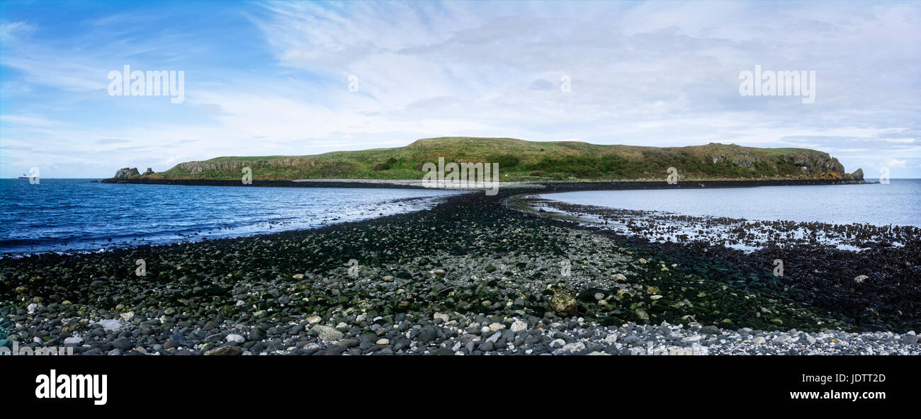 Islandmagee Island Magee is a peninsula on the coast between Larn and Carrickfergus in County Antrim Northern Ireland - Stock Image