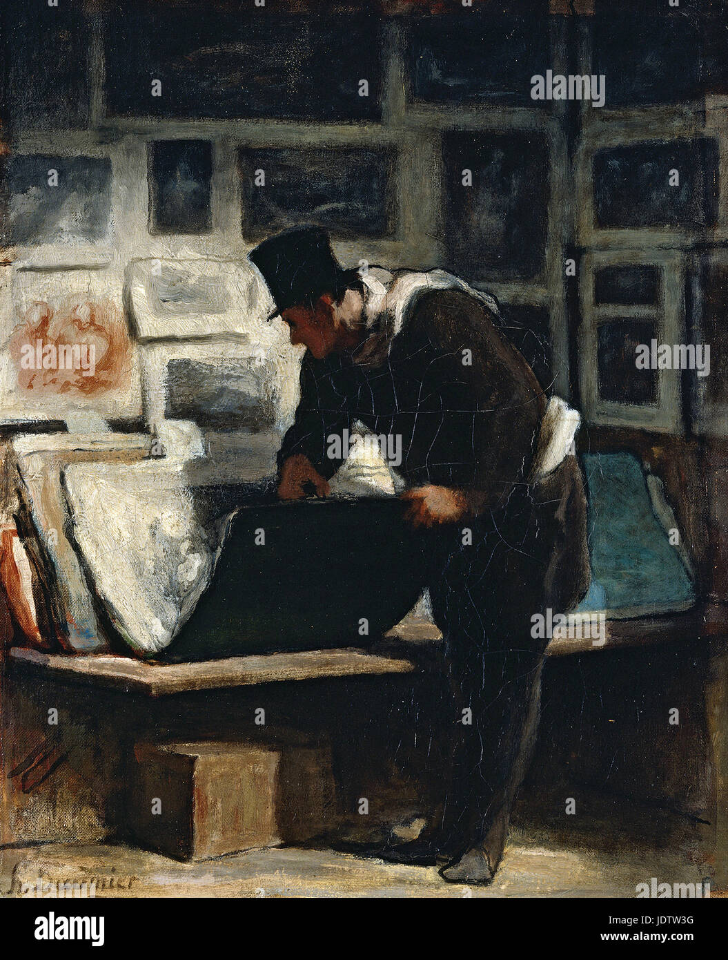 Honoré-Victorin Daumier - The Print Collector - Stock Image