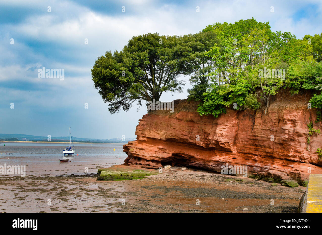 Darling's Rock, Lympstone, Devon. With the River Exe Estuary beyond. - Stock Image