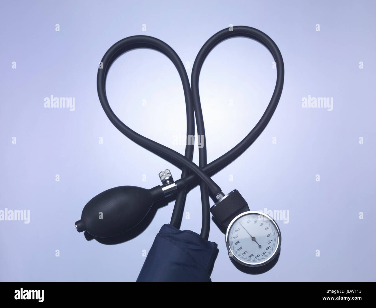Close up of blood pressure gauge - Stock Image