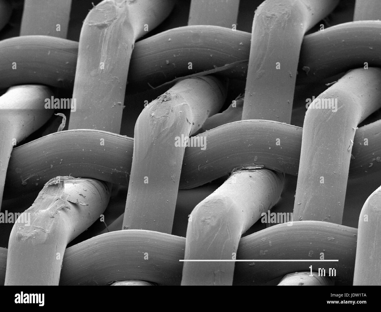 Magnified view of nylon screen - Stock Image