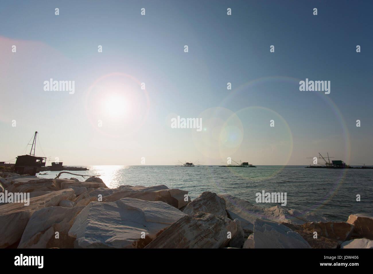 Coast, Lagune, Pisa, Tuscany, Italy - Stock Image