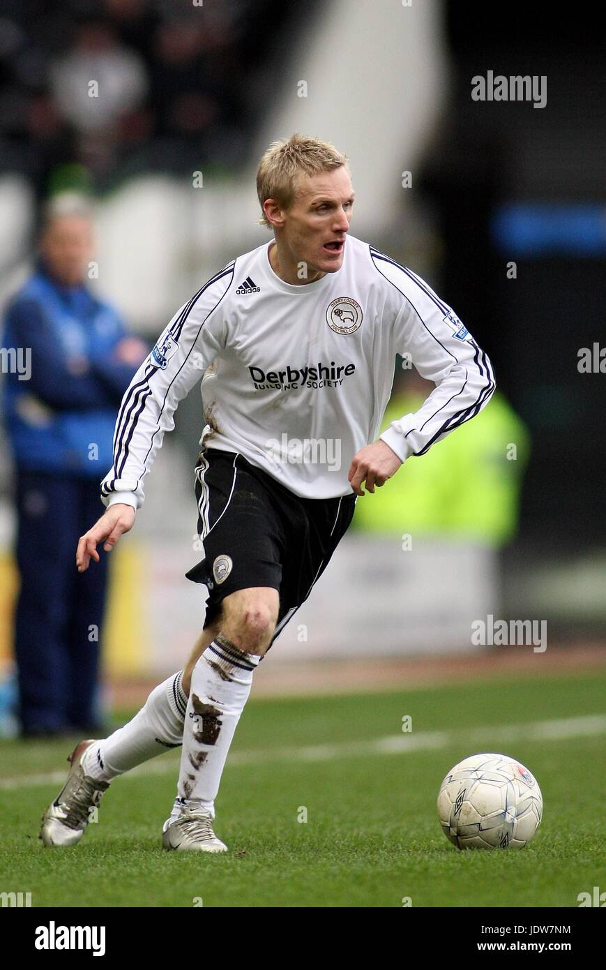GARY TEALE DERBY COUNTY FC PRIDE PARK DERBY ENGLAND 26 January 2008 - Stock Image