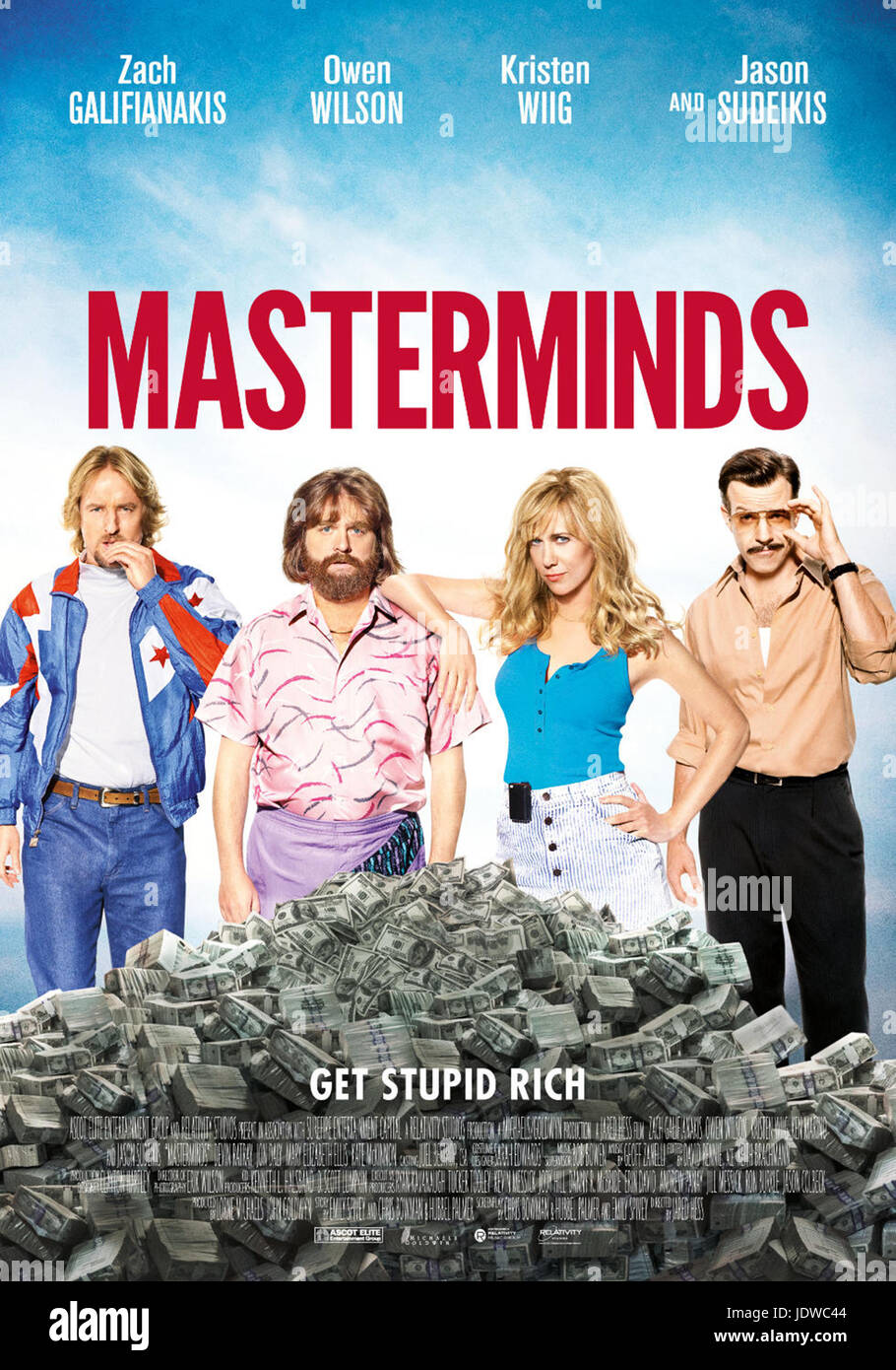MASTERMINDS (2016)  JARED HESS (DIR)  RELATIVITY MEDIA/MOVIESTORE COLLECTION LTD - Stock Image