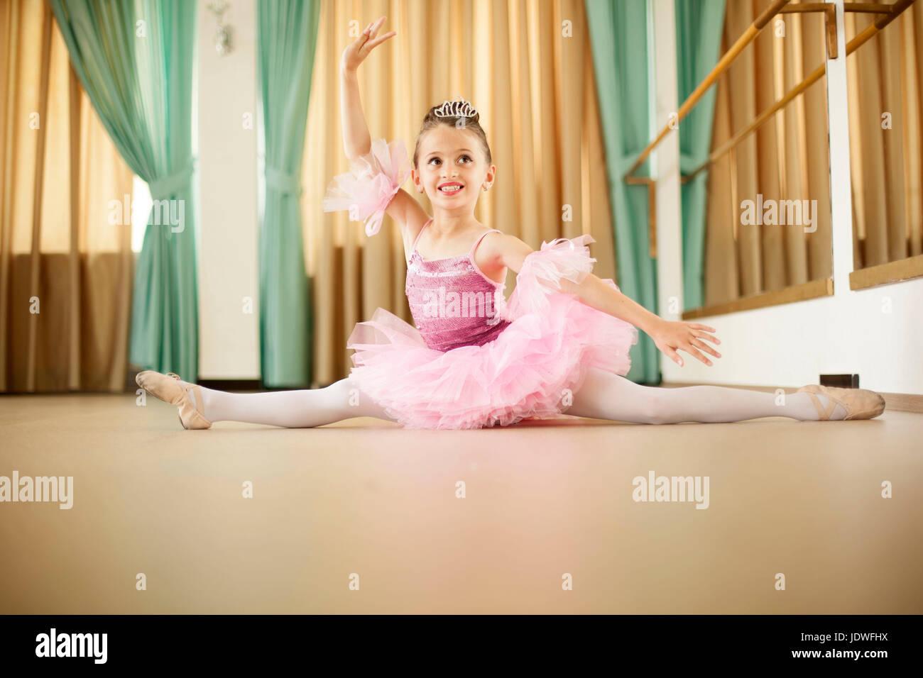 Ballet class - Stock Image