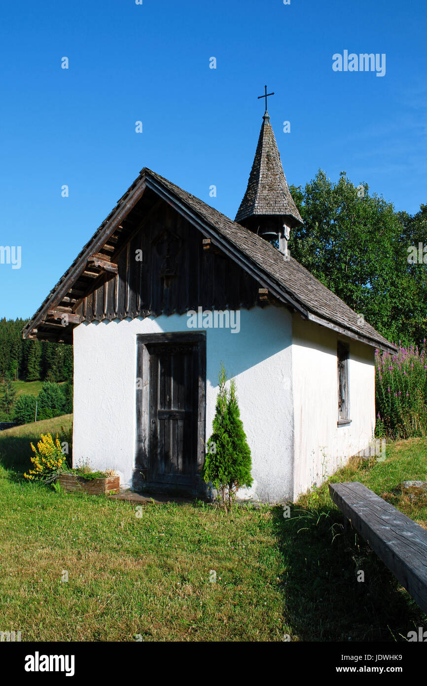 Small chapell in the Black Forest near Raitenbuch, Germany - Stock Image