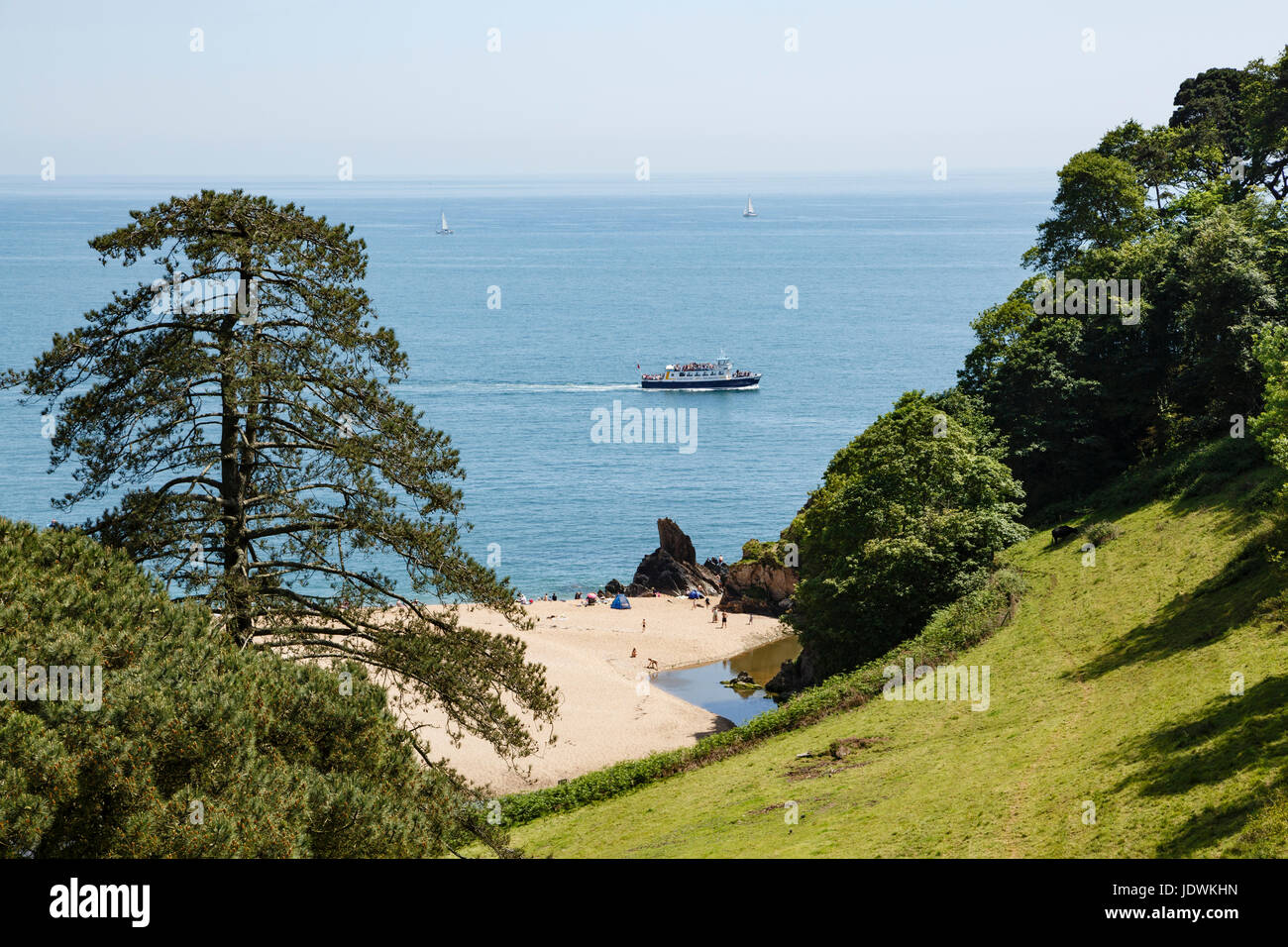 Blackpool Sands, near Dartmouth, Devon - Stock Image