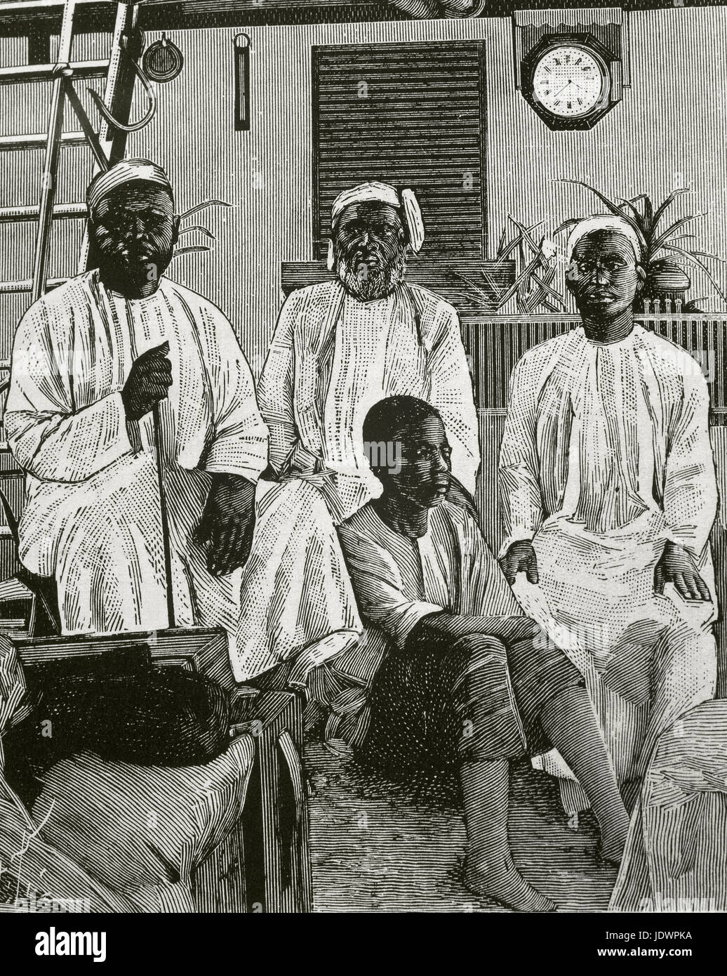 Tippu Tip (1832-1905). Swahili-Zanzibari slave trader. An ivory trader, explorer, plantation owner and governor. - Stock Image