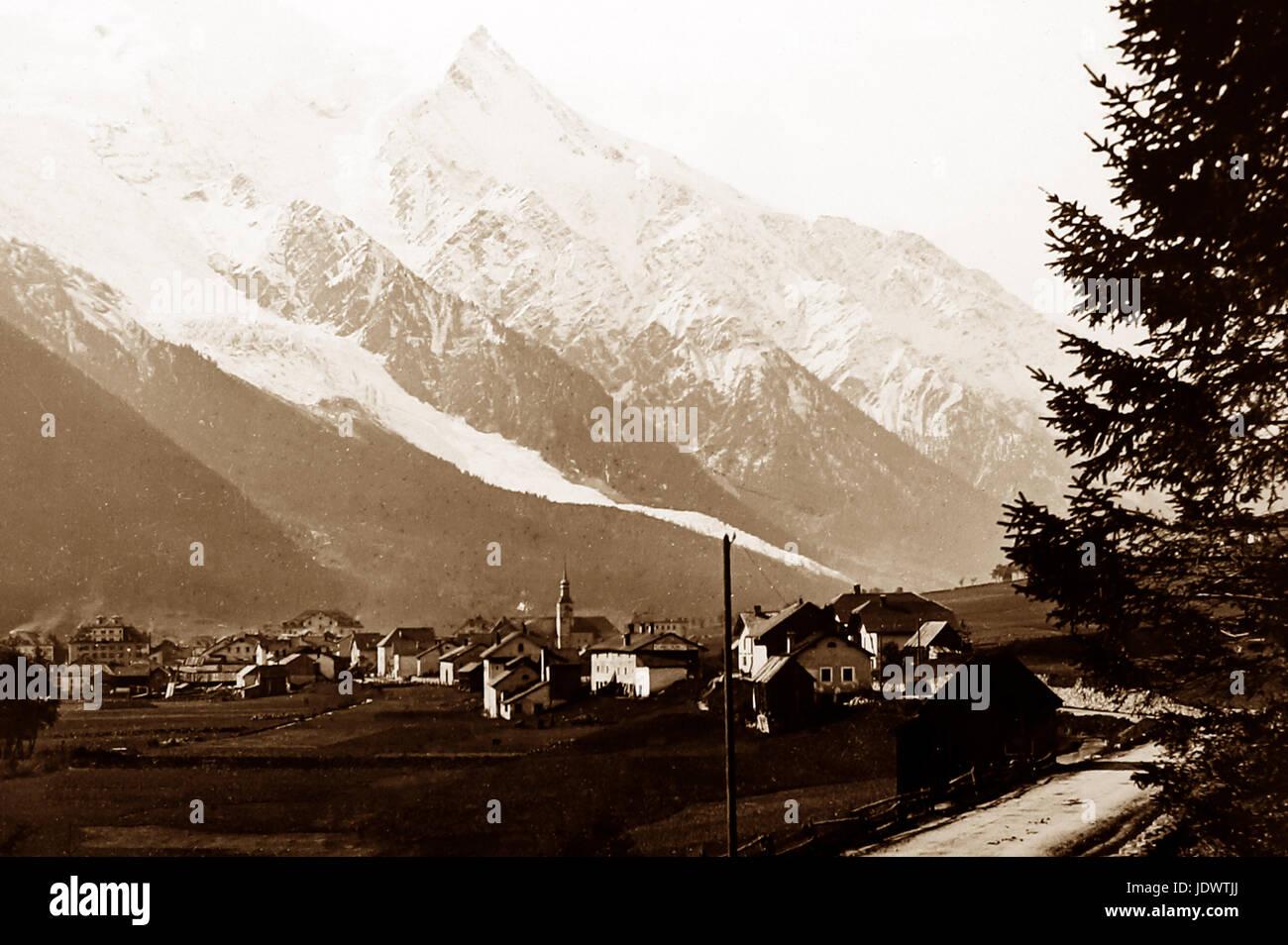 Chamonix and Mont Blanc, Victorian period - Stock Image